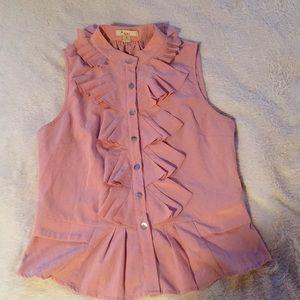 Very pretty ruffle sleeveless blouse